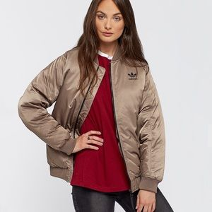 NWOT Adidas Originals Mid Bomber in Tech Earth